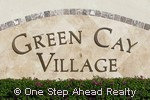 sign for Green Cay Village townhomes