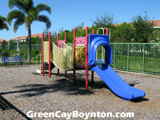 This playground area is a fun place for Green Cay's kids to interact with each other. It is convenient to both your home and to the pool.